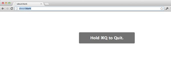 Chrome Quit Dialog